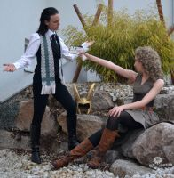 Come on, shoot ^^ - Loki x River Song Cosplay by Mon-Kishu