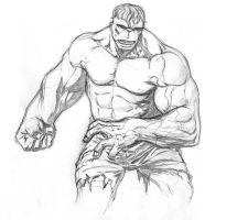 hulk sketch by sketchpimp