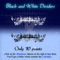 Black and White Dividers pack by Oce3D-Rainbow