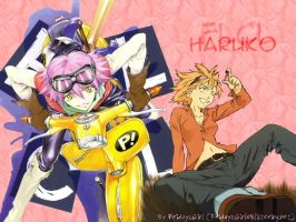 Fooly Cooly Haruko Haruhara by Fridayzgirl