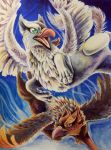 Gryphons by AlieTheKitsune
