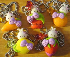 Bunnies on Fruits Collection by Bojo-Bijoux