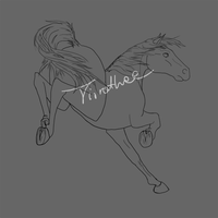 Horse lineart by Tirrathee