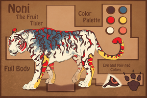 Noni: The Fruit Tiger reference sheet by toshema