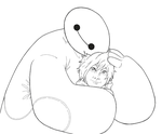 Baymax and Hiro by b-dangerous
