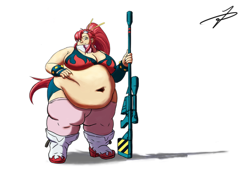 Fat Yoko Littner by TheDrummer96