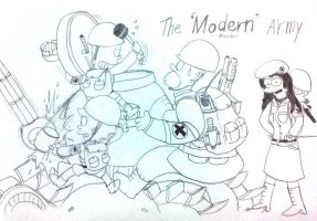 The Simpsons : The 'Modern' Army by komi114