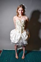 Corsetted Wedding Dress Front by lovedthePilgrimSoul