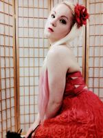 Red Dress, Red Lips and Red Flower by Lovely-LaceyAnn-Art