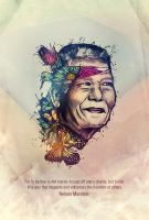 Nelson Mandela by Volture