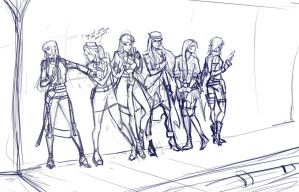 Cast Sketch - Comm by Viria13 by Lionel23