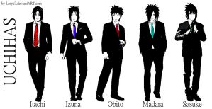 UCHIHAS in suit by Lesya7
