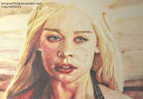 Mother Of Dragons   Colored Pencil by lemgras330