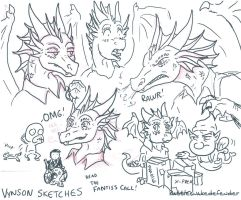 Vynson Sketches by DragonCid