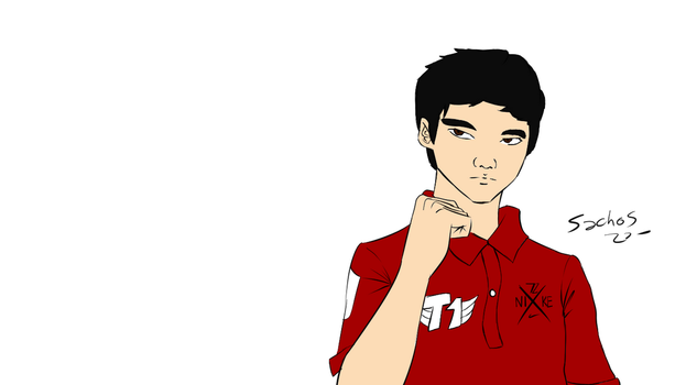 Faker Speed Drawing - League of Legends by sachos345