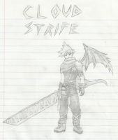Cloud Strife Kingdom Hearts by SharinganAce