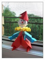 Origami Clown by lonely--soldier