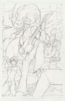 Universal Monsters - The Rockin' Dead - Pencils by TheEndofOurLives