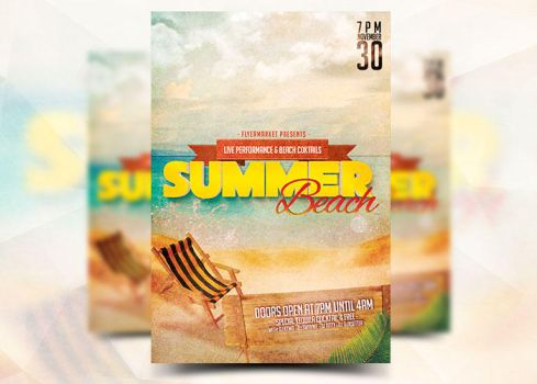 Summer Beach Flyer by Flyermarket