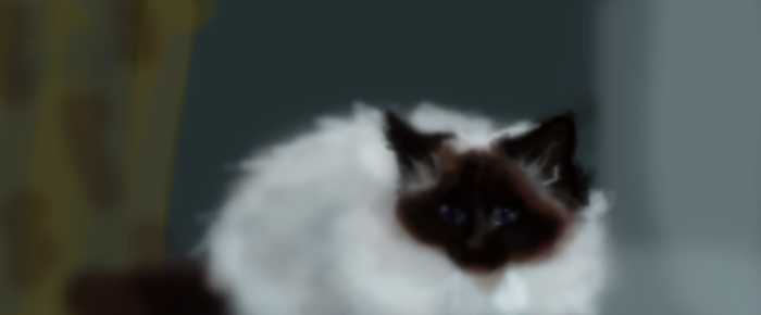 poofball I mean cat by CBrengan