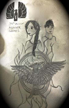 Katniss and Peeta by thedevilwearstophats