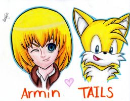 Armin And Tails!!! by RoseBereArtist