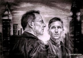 Finch and Reese at Sunset. Person of Interest. by GalleyArts