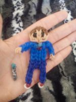 rainbowloom 10th Doctor with sonic screwdriver by AzulArtist1027