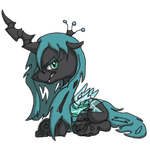 Grumpy little Chrysalis by Neyonic