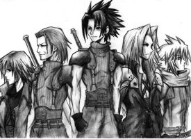 FF VII Crisis Core SOLDIERS by Moondrophime