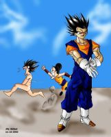 gogeta vegetto and chichi by Fusions