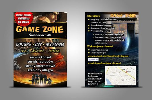 Flyer gamezone by kil4