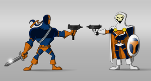 Deathstroke Vs Taskmaster by payno0