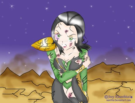 Lady Loki Hurt in the Space by neniths