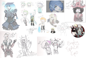 i am actually alive have art dump by Elevera