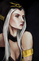 ashe portrait by Flea-biscuit