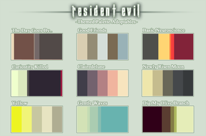 Resident Evil Themed - Pallete Adoptables (CLOSED) by Resident-evil-STARS