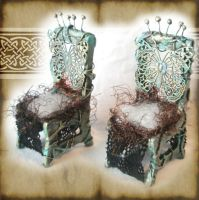 Miniature Butterfly Chairs by grimdeva