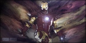 Iron Man Smudge Signature ( free style ) by aking144
