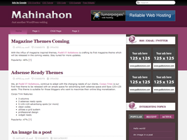 Mahinahon Free WordPress Theme by dulcepixels