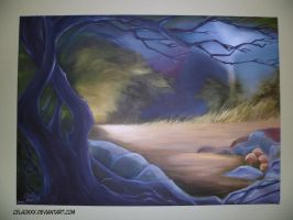 Animationbackground paint oil Bamb by celaoxxx