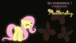 Wallpaper : So powerful, Fluttershy ! by Nattsu-San