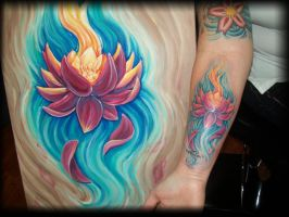 lotus painting and tattoo by eileenclassic