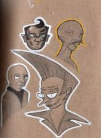 character portrait sketches by porchlord