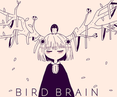 Bird Brain by KayJayDrawsArt