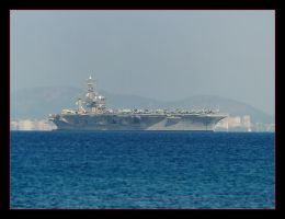 USS Dwight D. Eisenhower - Off Coast Of Mallorca by skarzynscy