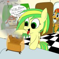 Glaze is making some toast in his Wooden Toaster by BossLuigi
