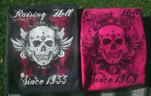 Raising Hell T's and Tanks by ReneeRutherford