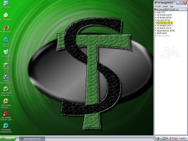 ST green desktop by archangel-fx