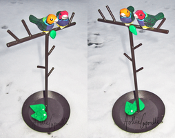 Gouldian Finch Jewelry Holder by HollieBollie